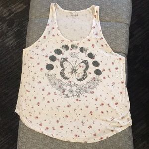 🦶🏽Mudd - Butterfly moon phase tank top